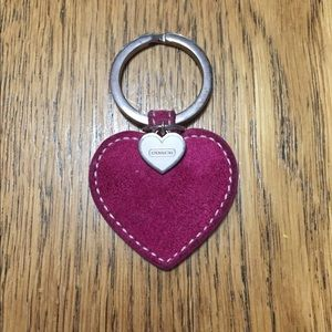 Authentic Coach Pink Suede Key Ring